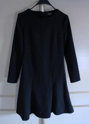 Платье миди черное  incity
