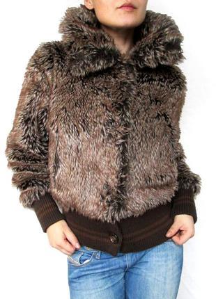Польша! супер стильная и тёплая шубка-куртка с карманами