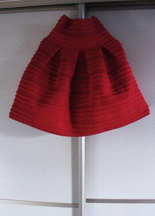 H&m юбка красная тюльпан