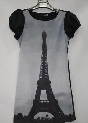 Платье moschino с эйфелевой башней