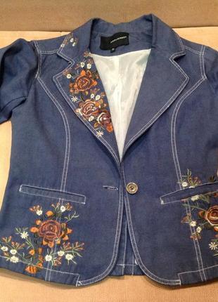 Dsquared джинсовый пиджачек с вышивкой