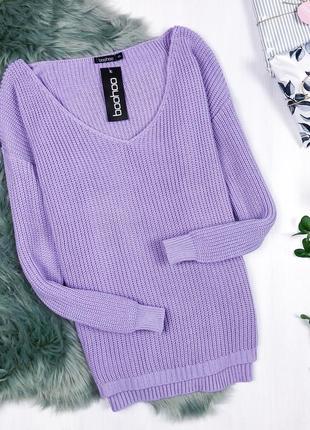 Крутий оверсайз светрик \ крутой лиловый лавандовый сиреневый оверсайз свитер boohoo