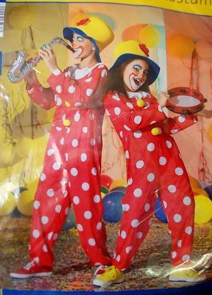 Маскарадный костюм клоуна на 7-10 лет бренд pocopiano