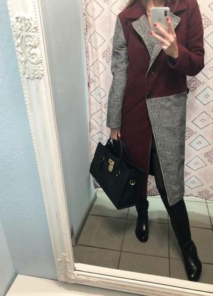 Невероятно стильное пальто кашемир и шерсть