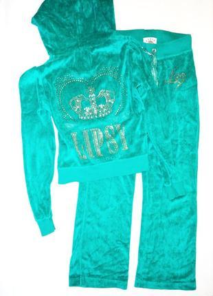 Велюровый спортивный костюм lipsy р.s 10 рукав 64, дл.брюк 96)