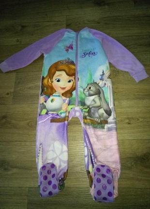 Флисовая пижама слип софия на 1,5-2 года