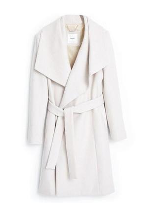 Супер женственное пальто   mango. шерсть