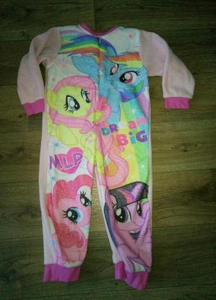 Флисовая пижама слип понни на 4-5 лет