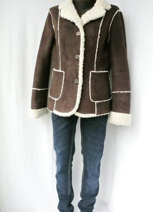 Модная стильная фирменная дубленка calvin klein.