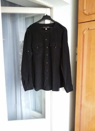 Шелковая рубашка banana republic 100% шелк