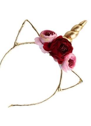 Есть другие цвета! модный обруч единорог золото розовый ободок