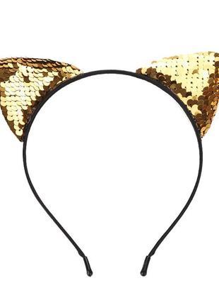 Есть варианты! крутой обруч обруч для волос кошачьи ушки кошка котик ободок паетки