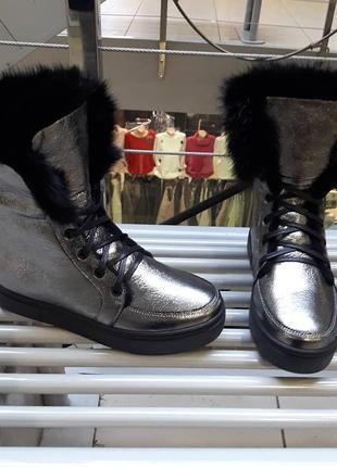 Женские натуральные ботинки зима очень красивые