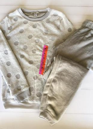 Пижама домашний костюм пушистый флис xs, l, xl primark, англия.