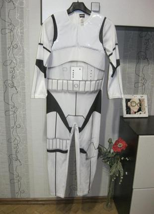 Звездные войны star war штурмовик солдат костюм 9-10 лет 135-140 см
