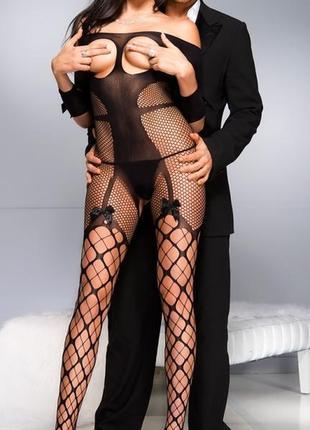 Эротический сексуальный комбинезон боди сетка sexy белье с-28