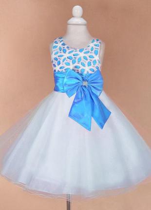 Размер 92 - 140 разные цвета аманда в наличии платье нарядное, пышное, с кружевом аманда