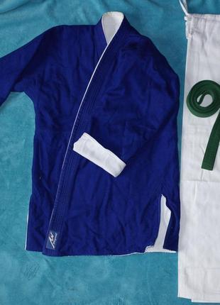 Playwell кимоно куртка+штаны+пояс пакистан 180 карате дзюдо айкидо комплект