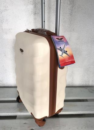 🔥качество! купить дорожный пластиковый чемодан для ручной клади валіза з доставкою2 фото
