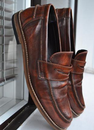 Пенни лоферы asos кожаные туфли