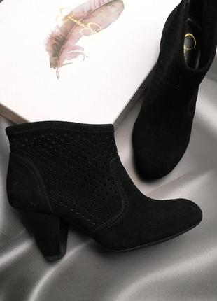 Jessica simpson черные замшевые ботильоны в ковбойском стиле оригинал из сша