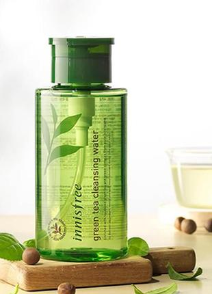 Мицеллярная вода с экстрактом зел чая innisfree green tea cleansing water