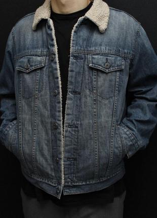 Джинсовка на меху / шерпа gap / джинсовая куртка