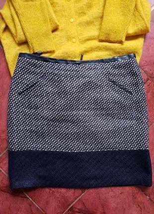 Стильная юбка карманы шерсть  marks&spencer британия