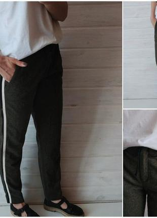 Классные актуальные брюки/штаны с лампасами от zara