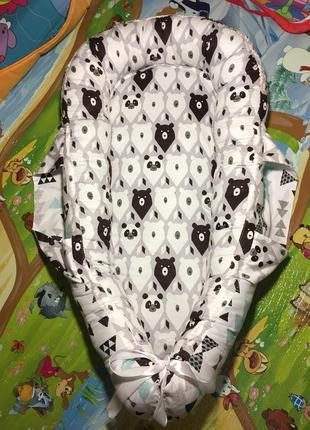 Кокон-гнездышко для новорожденных с ручками для переноски