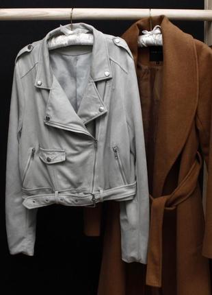 Куртка косуха под замш missguided