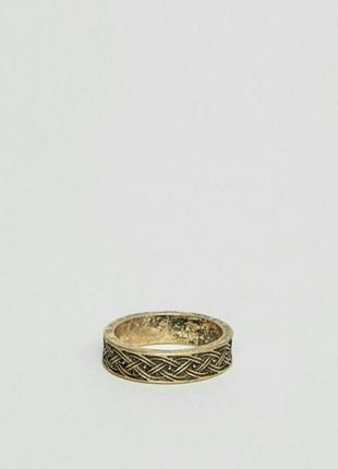 Кольцо asos винтажное золото