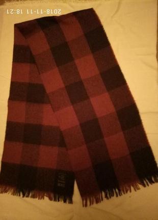 Модное и актуальное тонкое полушерстяное кашне шарф