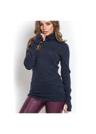 Гольф свитер ангоровый с рукавами митенками