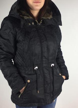 Парка куртка демисезонная чёрная