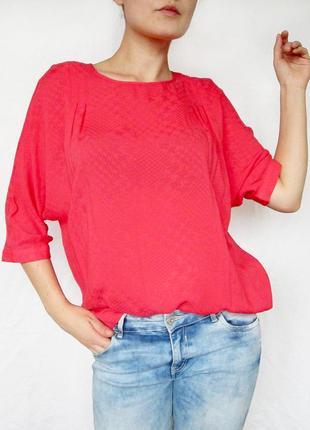 Sabra!! шикарная шёлковая коралловая блуза