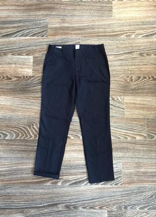 Новые синие хлопковые классические брюки штаны от gap