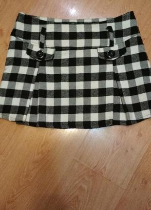 Фирменная тёплая мини юбка