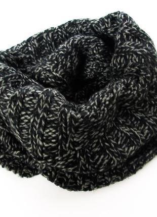 Стильный вязаный тёплый снуд/хомут/шарф!
