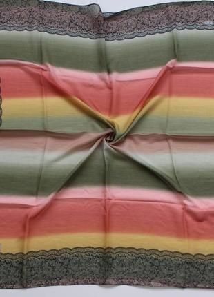 Женский платок на голову, шею шарф платочек шарфик