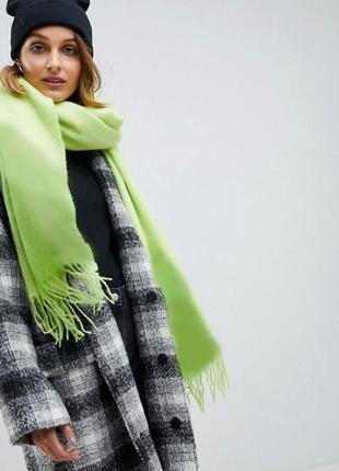 Зелено-салатовый шарф омбре