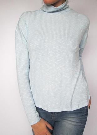 Стильный гольф/свитер/свитшот/джемпер в рубчик небесного цвета missguided! размер s