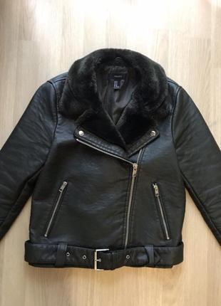 Кожанная куртка forever 21