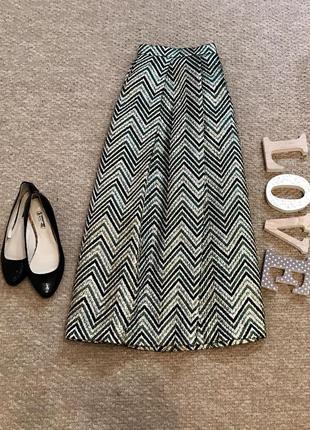 Шикарная юбка колокол в принт m&s collection