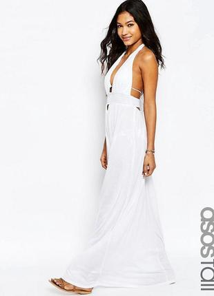 Пляжное платье‑халтер из трикотажа asos tall