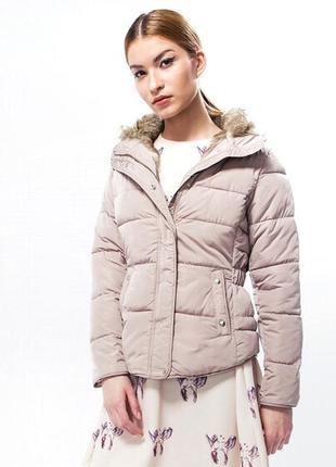 Пудрова тепла куртка