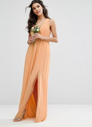 Платье с плиссировкой и отделкой сзади tfnc