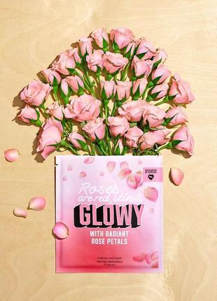 """Маска  victoria's secret pink - """"сияние кожи"""" - hydrogel face mask rose petals"""