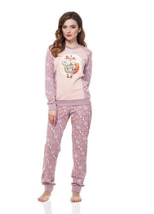 Теплая пижама ellen с начесом