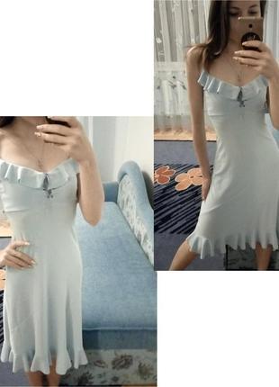 Асимeтричнe плаття з рюшами, куплeнe в італії!🇮🇹 xxs-s / обмін чи продаж